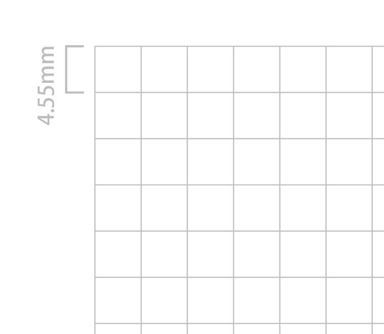 水平開きノート A4サイズ4.55mm方眼設計ノート罫線