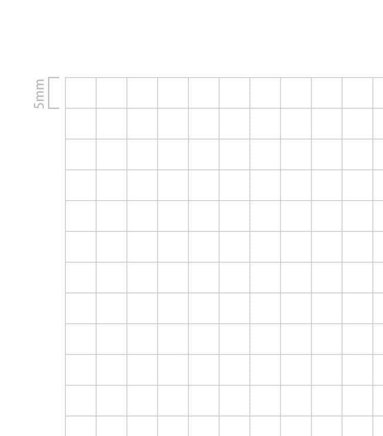水平開きノート112×173mmサイズ5mm方眼新書判ノート罫線
