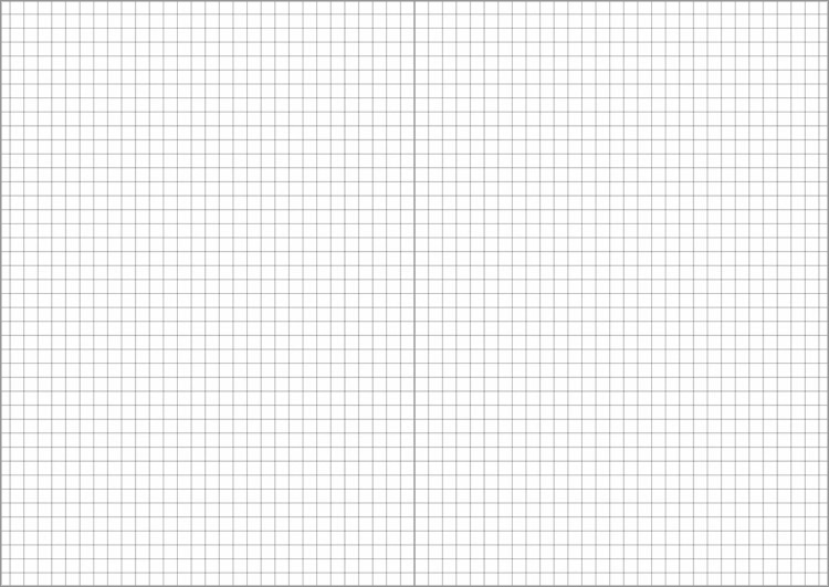 水平開きノートのA5サイズ5mm方眼罫見開き