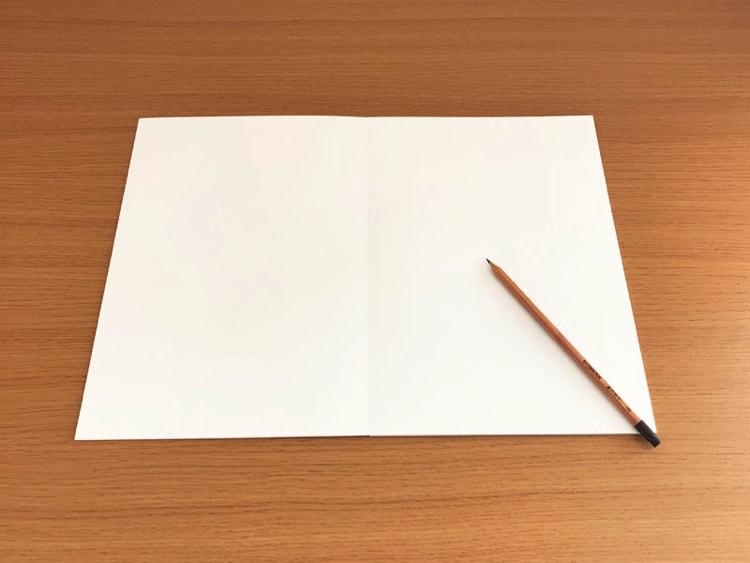 水平開きノート A4サイズスケッチブック20枚見開き