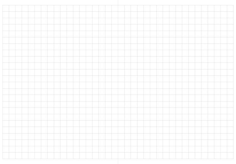 水平開きBTCノートの見開きページ