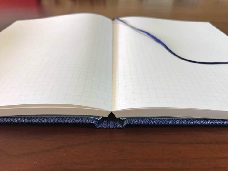 ナカプリバイン プレミアム A5判 5mm方眼 200頁 水平開き(ナカプリバイン)の見開き